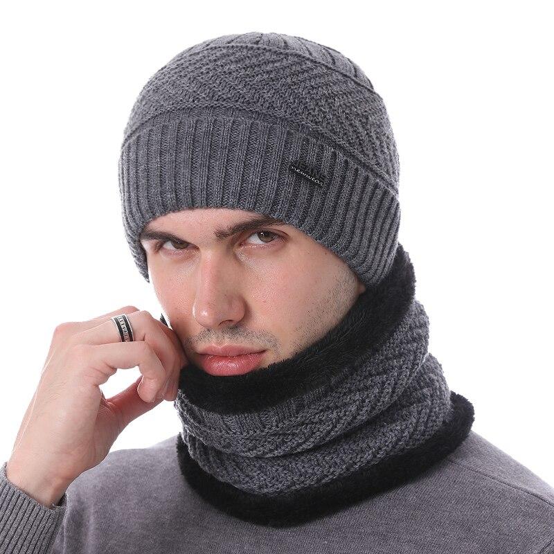 YOUBOME Skullies Beanies Winter Hats For Men Beany Knitted Hat Women Male Gorras Warm Soft Neck Balaclava Bonnet Beanie Hat Cap 3