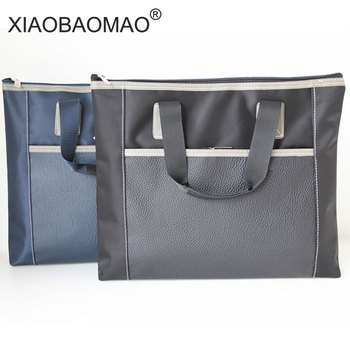 XIAOBAOMAO Large-capacity a4 documents file bag folder business office school file bag paper file organizer xiaobaomao a4 commercial business document bag tote file folder filing meeting bags pocket office bags pocket large capacity