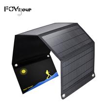 Fovigor składana przenośna ładowarka solarna 28W 3 Port USB wodoodporny Panel kompatybilny z telefonem komórkowym tanie tanio FOVigour CN (pochodzenie) Rohs panel solarny S-28W Krzem monokryształowy