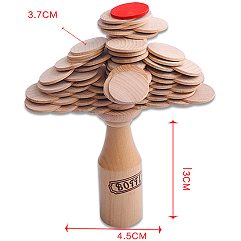 Hot Wooden Stacking Block Kids Bottle Challenge Puzzle Toy Bar Club Cheering Game Mental Props