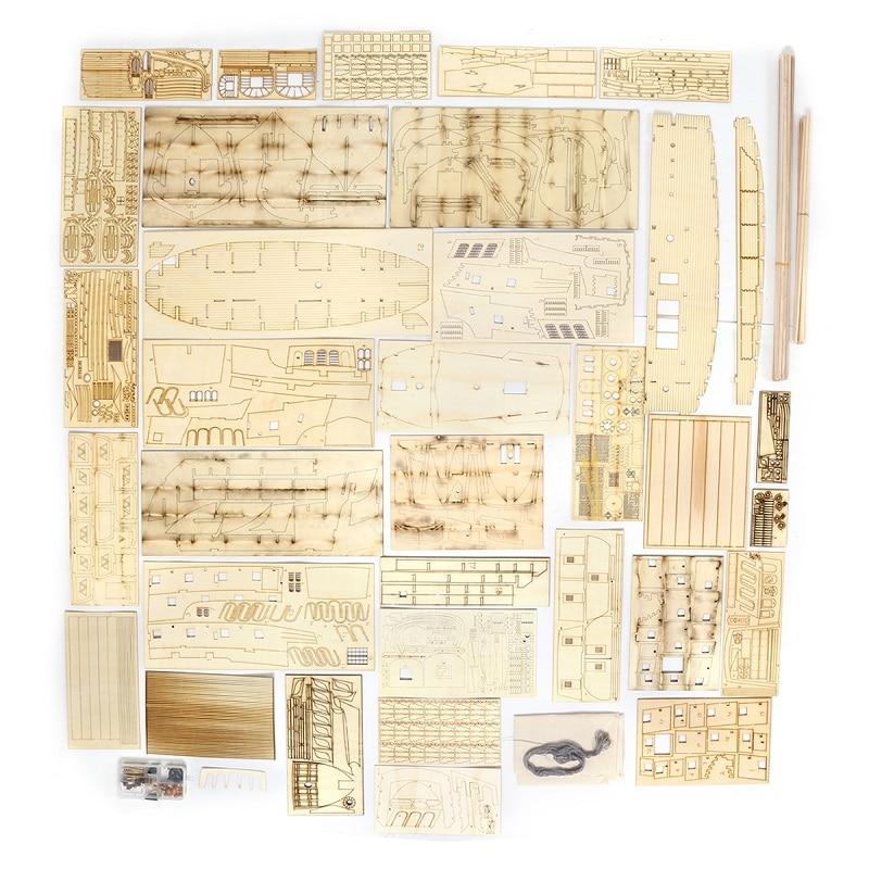 1:50 DIY De Black Pearl Model Schip Kits Voor Gift Voor s Van De Caribbean Diy Set Kits Montage Boot speelgoed model kit - 5