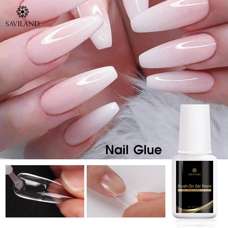 Saviland Nail Art Nail Glue for Nail UV Acrylic Nails Rhinestones for False Nails DIY Gel Polish Nail Tips Design Gel Polish(China)