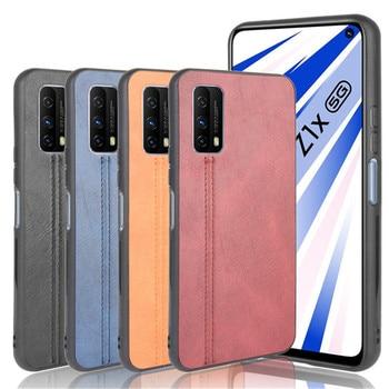 Перейти на Алиэкспресс и купить ДЛЯ Vivo iQOO Z1X чехол, роскошная телячья кожа, из искусственной кожи, Жесткий Чехол для BBK vivo iQOO Z1X 5G, полный Чехол для телефона чехол