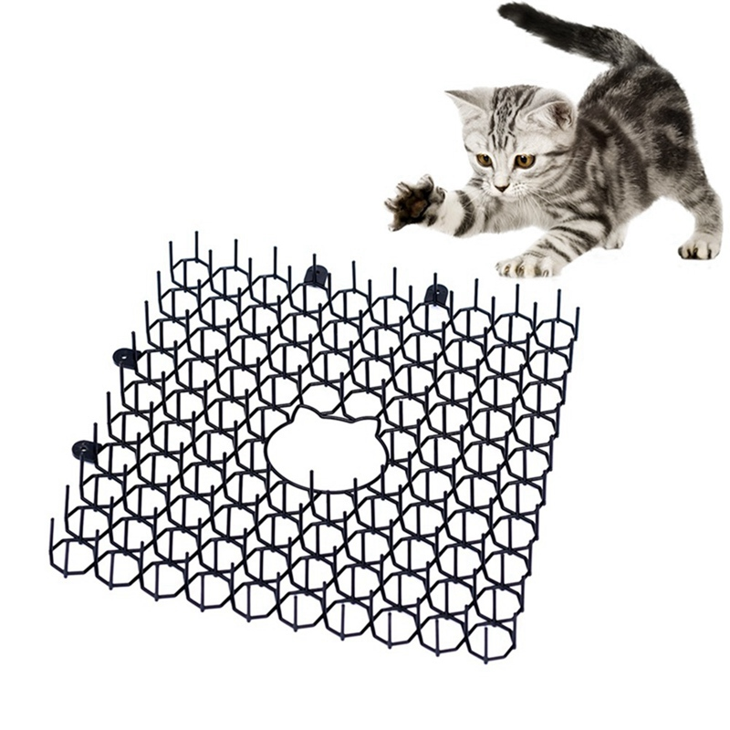 Garden Cat Thorn Mat Cats And Dogs Repellent Mat Plastic Spike-Keeping Cats And Dogs From Digging Green Plant Protection Tool