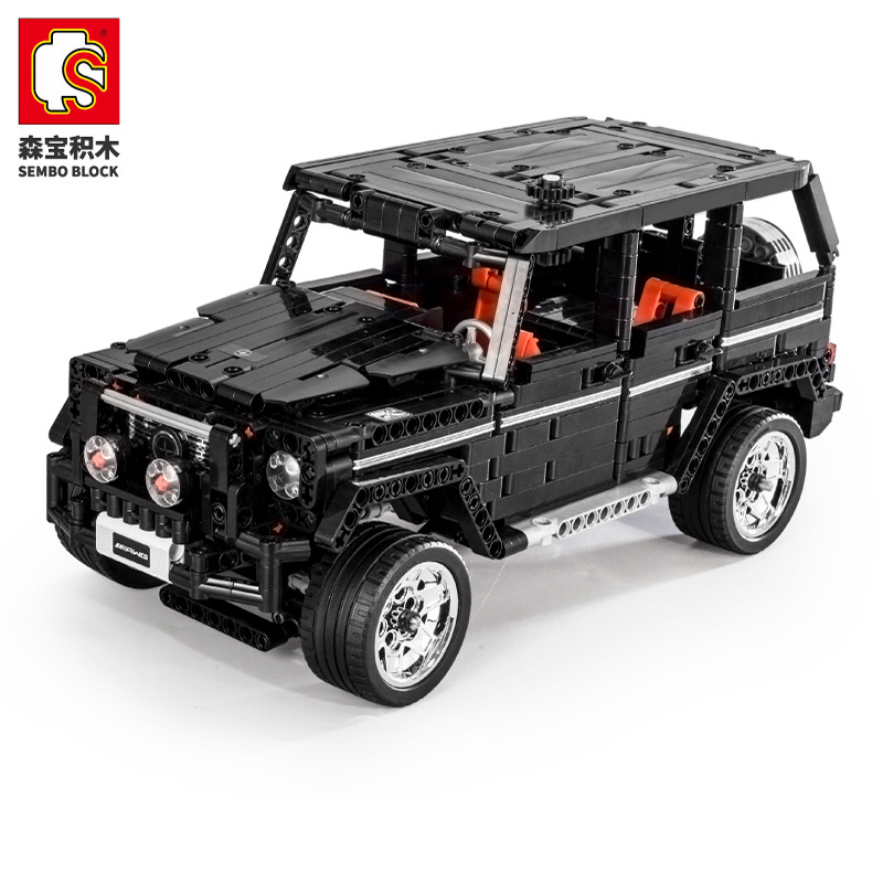 Sembo Technic series G500 Mercedesals black benzged big G bricks model building blocks Classic Technic cars toys for kids gifts image