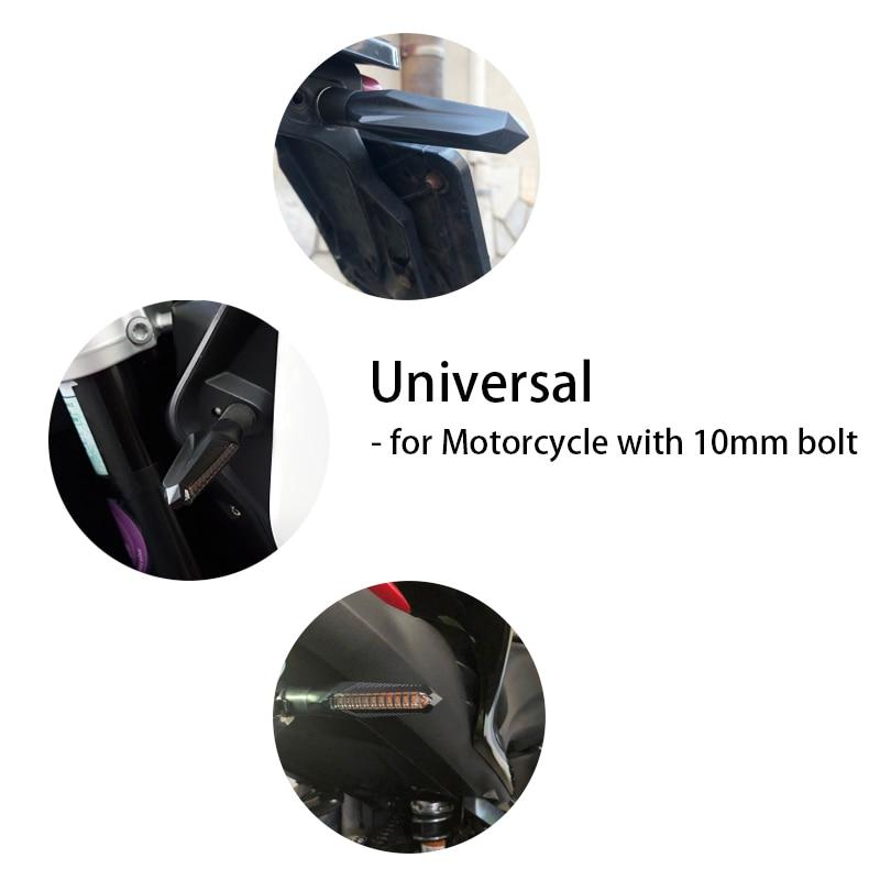 lowest price Universal LED Turn Signals for Motorcycle Arrow Amber Lamp Rear Flashing Signal Brake Lights Indicators For Honda Yamaha 12V
