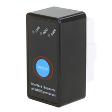 цена на dropshipping Super Mini Bluetooth ELM327 Interface OBD2 CAN-BUS Diagnostic Car Scanner Tool OE88