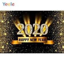 Yeele год семейные вечерние Блестки для рисования фотографии фоны персонализированные фотографии фоны для фотостудии