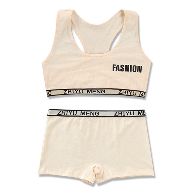 Training Bras Set For Girls Teenage Underwear Cotton Boxer  Teens Children 8-14Years 5