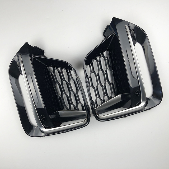 2018 2019 2020 Frame Trim Protector Exterior CoverFront Fog Light grille For BMW New X3 G01 X4 G02 cerium Gery Lamp Cover 3