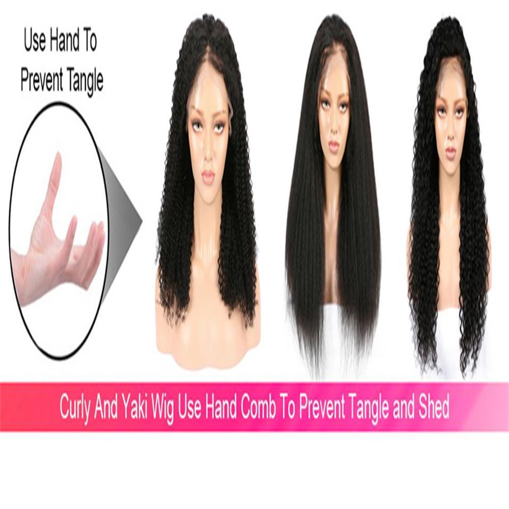 perucas transparentes do cabelo humano do laço
