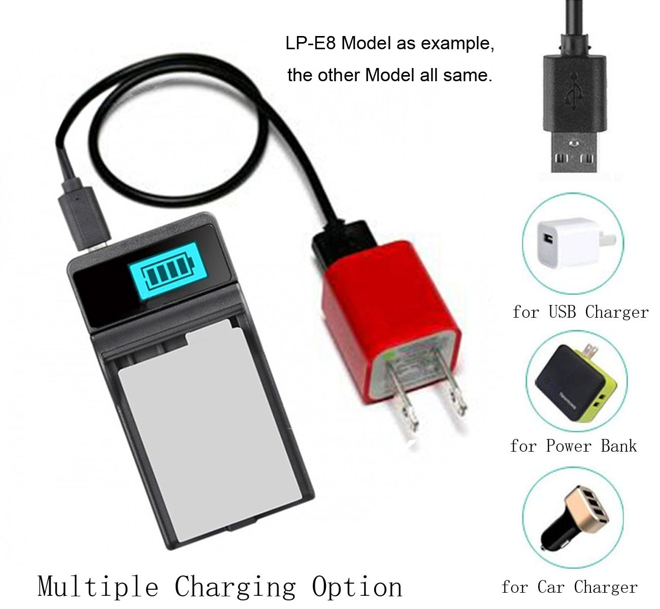 GZ-MG365U Camcorder GZ-MG360U Battery 2 Pack and LCD USB Battery Charger for JVC Everio GZ-MG360 GZ-MG365