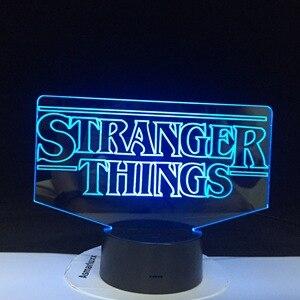 ТВ-шоу, странные вещи, лучший подарок для взрослых, для украшения в помещении, на батарейках, Прямая поставка, 3D лампа, светодиодный Ночной св...
