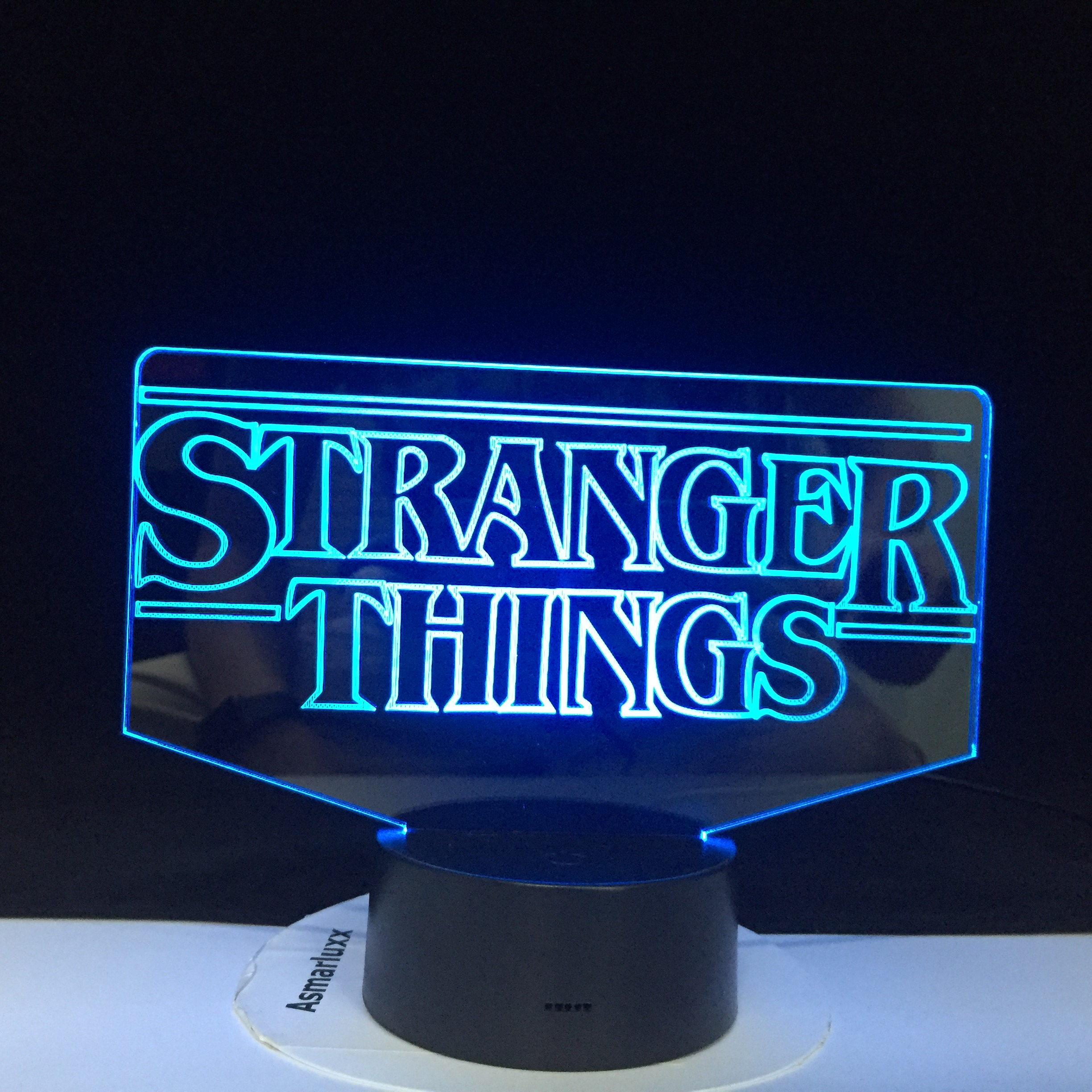 The TV Show Stranger Things Best Present For Adult For Indoor Decoration Battery Powered Dropship 3D Lamp  Led Night Light Lamp