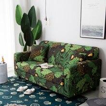 Tropical Blätter und Blumen Flexible Sofa Schutzhülle All inclusive Stretch Möbel Abdeckung Sofa Handtuch Wohnkultur 1/2/3/4 Sitz