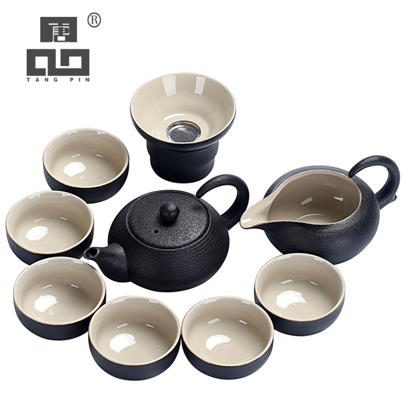 TANGPIN Black Crockery Ceramic Teapot Kettles Tea Cups Porcelain Chinese Kung Fu Tea Set Drinkware