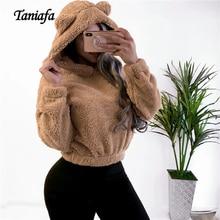 2019 New Fashion Autumn Hooded Sweatshirt Women Oversized Long Sleeve Streetwear Tops Winter Plush Warm Hoodies Sweatshirts
