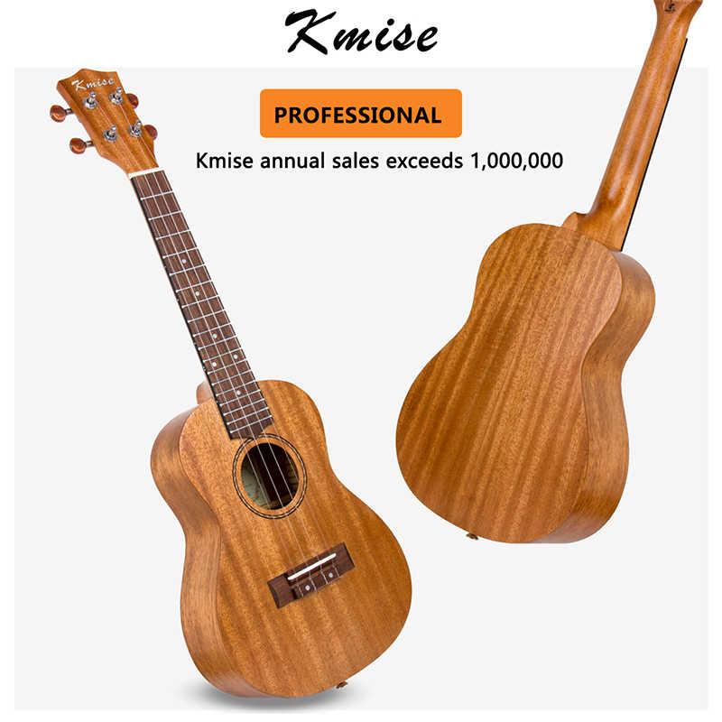 Kmise Ukelele tenor 8 cuerdas, madera de caoba, con p/úas, correa de repuesto