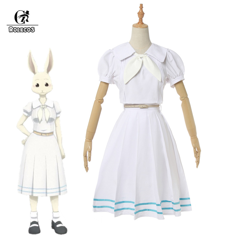 ROLECOS Anime Beastars Cosplay Costume Haru Cosplay Women School Uniform Costume Rabbit Girl Japanese Uniform Outfit