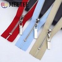 Meetee 5/10pc 3# 15/18/20/25/30cm Metal Zippers Close-end Zip Closure for Clothes Jeans Pocket Zipper Bag Purse Repair Accessory