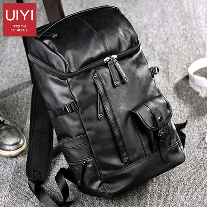Backpack Men's College Style Retro Japanese High School College Student Backpack Simple Computer Backpack Leather Crossbody Bag
