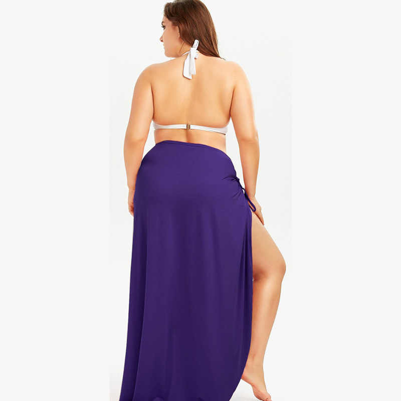PLUS ขนาดชุดชายหาดหลวมบิกินี่ฤดูร้อน Vestidos Playa 5XLCover UPS สำหรับผู้หญิง Beachwear Sarong robe Plage