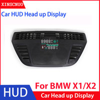 Car Electronics Car HUD Head Up Display For BMW X1/X2 2016 2017 2018 2019 2020 Head up Display Digital Speedometer OBD2 display