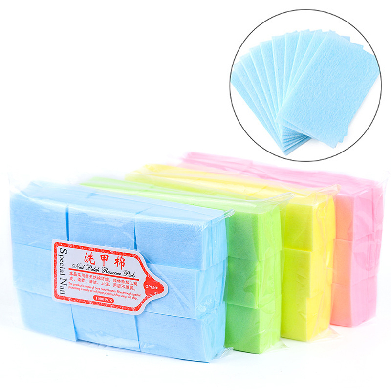 Nail Polish Remover Wipes Cleaning Lint Free Paper Pad Soak off Remover Manicure tool 2
