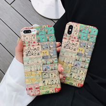 IMIDO Comic Cartoon For Huawei mate Back Cover Anti-fall Fashion Case Water Pasting PC Cases p20 pro p30