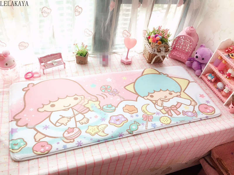 110*45cm My Melody Cinnamoroll Pudding Dog Little Twin Stars Anime Rug Soft Carpet Cartoon Home Bedroom Floor Mat Bath Doormat