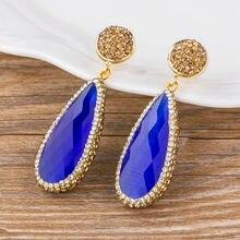 Модные Классические серьги капли в форме звезды золотого цвета