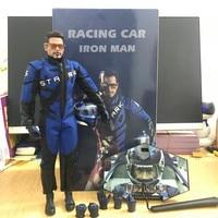 HC Avengers Endgame Iron Man Figure Tony Stark racing car ironman Action Figure Collectible Model Toys Birthday Gift 32cm