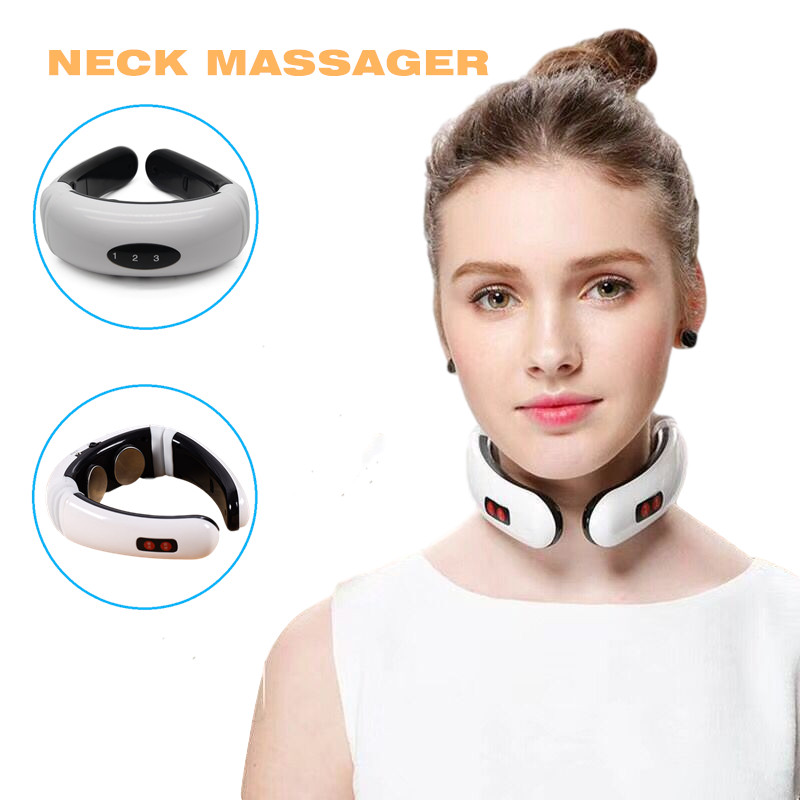 Electric Pulse Neck Shoulder Massager 6Modes Pain Relief Health Care Relaxation Cervical Vertebra Infrared Heating Physiotherapy