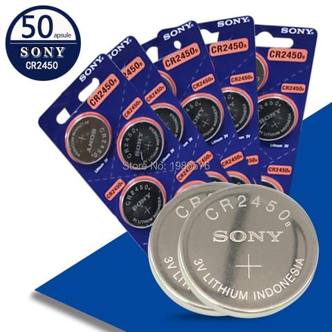 Células da Moeda Bateria de Lítio Ee6230 para Luzes Sony Botão Br2450 Lm2450 Kcr5029 Led Brinquedos Relógios 50pc Cr2450 Dl2450