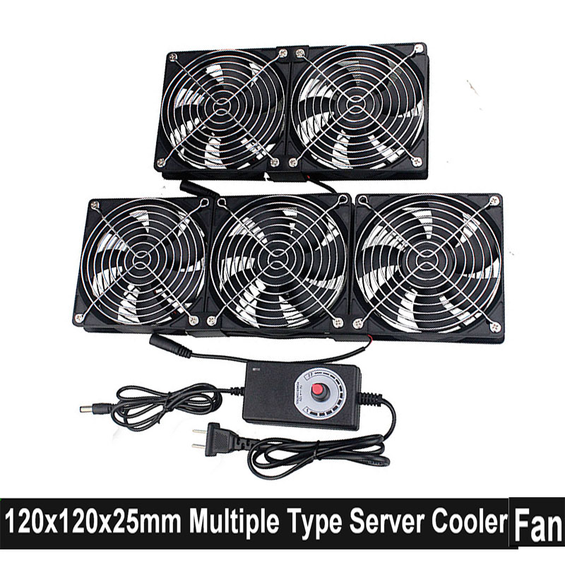 Gdstime 12V 220V 12CM 3x120mm High Speed Cooling Fan Mining Machine Chassis Workstation Cabinet 120x25mm Server Cooler Fan