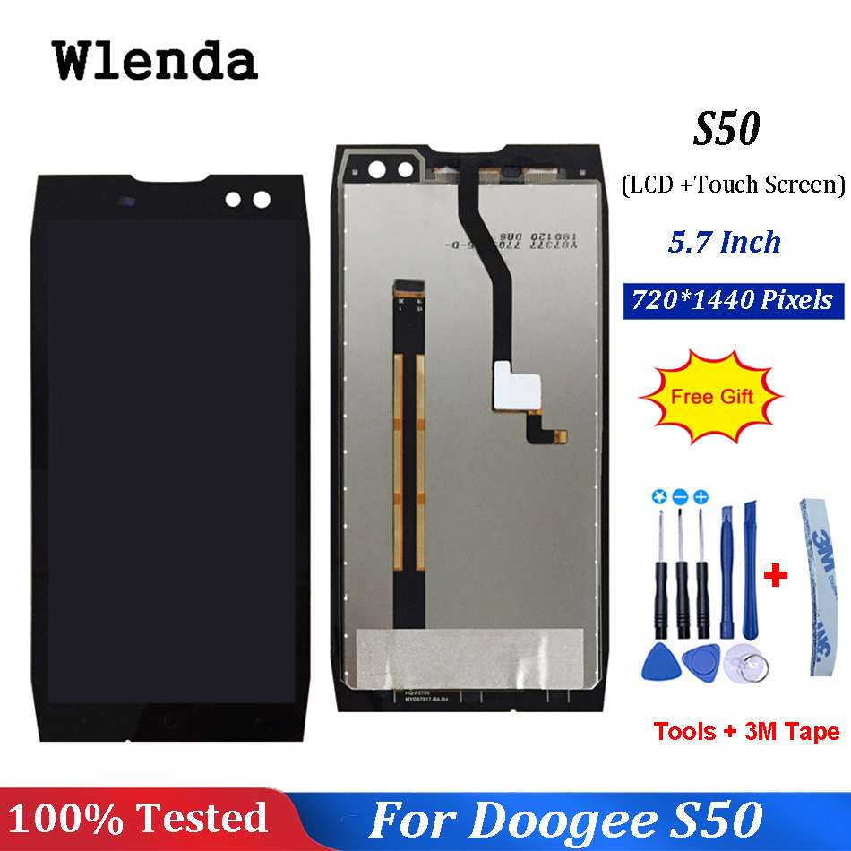 5.7 Inch For Doogee S50 LCD Display+Touch Screen Assembly For Doogee S50 Mobile Phone Accessory With Free Tools