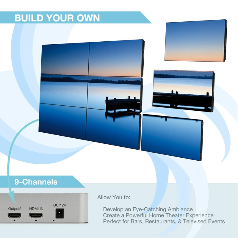 1080P Hdmi 3X3 Video Wall Controller 13 Display Modes - 1X2, 1X3, 1X4, 2X1,  2X2, 2X3, 2X4, 3X1, 3X2, 3X3, 4X1, 4X2 Usb Video W