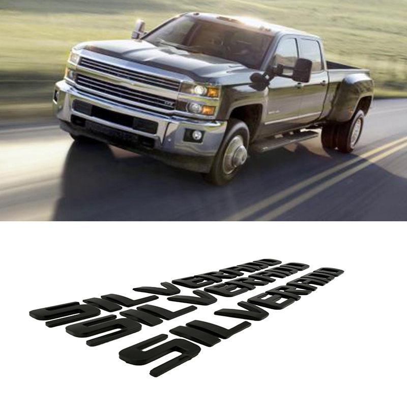 BLACK 1500HD FIT Chevy Silverado 1500HD REAR TRUNK DOOR EMBLEM NAMEPLATE BADGE