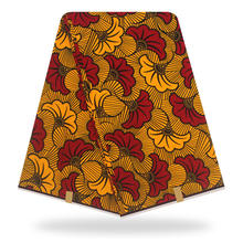 100% Cotton Ankara wax Fabrics Hot Sale Wholesale And Retail African Wax Women Style For Patchwork Sewing 6 yards(China)