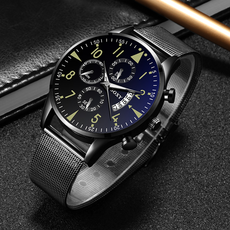 H5ed84381f2964a0482cf6cf2b19f2265N Quartz Wristwatch Luminous SOXY Men's Watches Classic Calendar Mens Business Steel Watch relogio masculino Popular saati hours