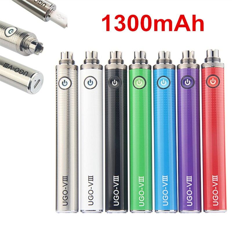 1300mah UGO VIII Battery Vision Micro Evod Passthrough Charger Electronic Cigarette Battery Ego 510 Thread UGO V Vape E Cigs Kit