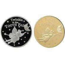 Collection de pièces de monnaie féeriques, plaqué or argent, dents scintillantes, Souvenir, Art, défi