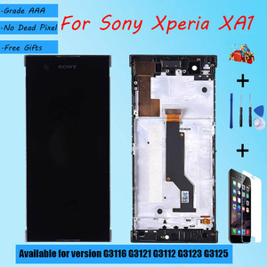 Image 1 - For Sony Xperia XA1 G3116 G3121 G3112 G3123 G3125 LCD screen assembly with front case touch glass,With repair parts LCD Display