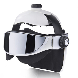Image 3 - Head Massager Eye Massager 2 in 1 Relieve Stress Promote Sleep Music Massage Helmet Automatic Infrared Pressure Head Massager