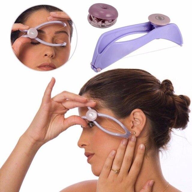 Mini Portable Women Facial Hair Remover Spring Threading Epilator Face Defeatherer DIY Makeup Beauty Tool for Cheeks Eyebrow