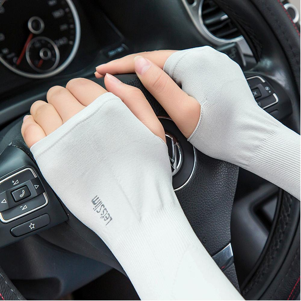 1Pair Outdoor Sun Protection Cuff Cooling Arm Sleeves Arm Warmers For Cycling Basketball Football Running Sports Arm Warmers