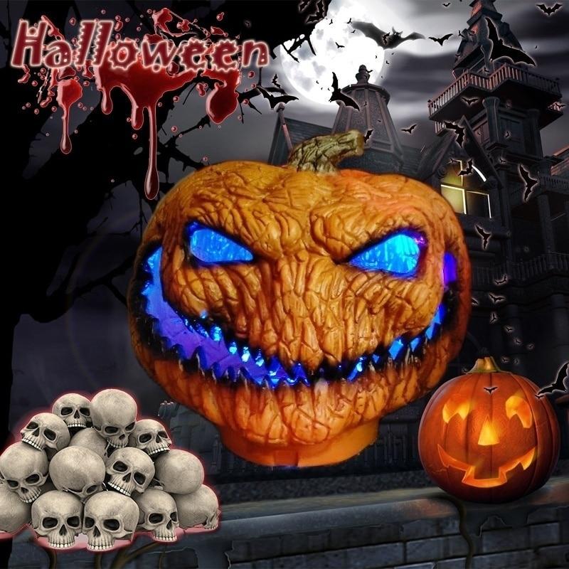 2019 HOT LED New Hot Scary Orange Halloween Pumpkin Light Pumpkin Lamp Decoration With LED Lights Skull Led Lights
