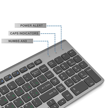 JOYACCESS Russian Wireless Keyboard Mouse Set Ergonomic Mouse PC Mause Silent Button Keyboard and Mouse Combo 2.4G for Laptop PC 2