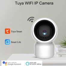 Câmera tuya smart de 1080p hd wifi ip, com zoom panorâmico e inclinação, áudio bidirecional, cuidados com o bebê, amazon alexa controle de vídeo da voz inicial do google