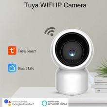 Tuya Smart 1080P HD WiFi IP Camera with Pan Tilt Zoom Two Way Audio Baby Care Amazon Alexa Google Home Voice Video Control